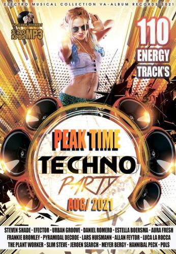 Varied Performers - Peak Time: Techno Party (2021)